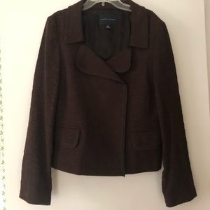 Brown double breasted jacket, size 12